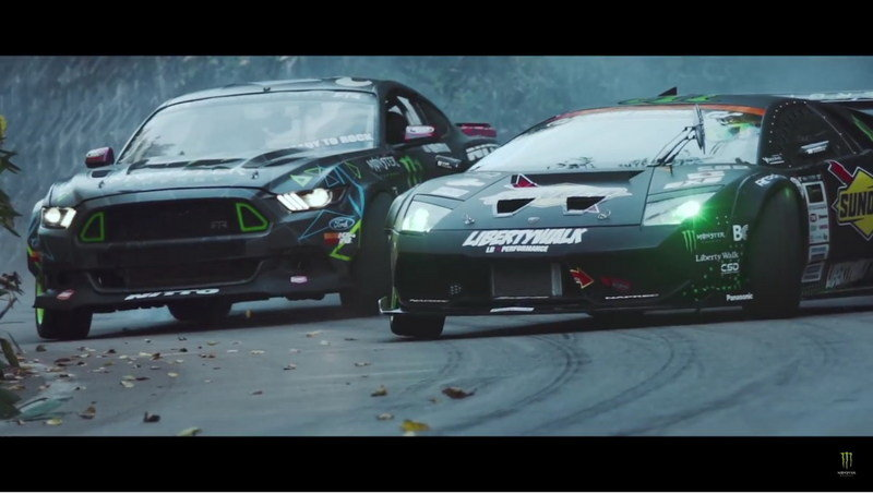 Ford Mustang RTR Vs. Lamborghini Murcielago By Liberty Walk: Video