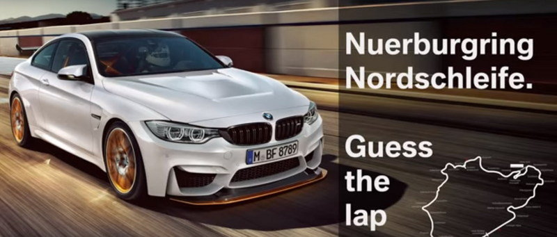 BMW M4 GTS Lapped Nürburgring In About 7:28
