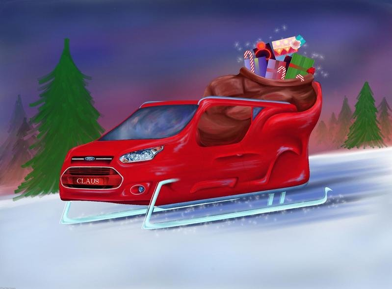Santa's Exotic and Luxurious Sleighs
