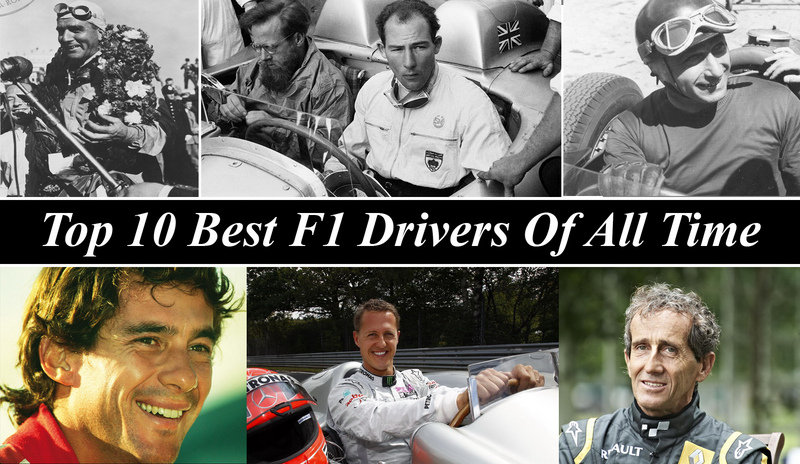 Top 10 Best F1 Drivers Of All Time