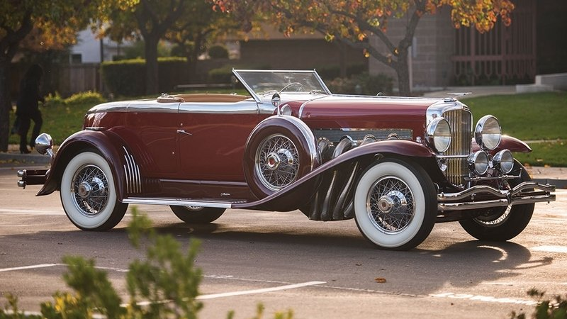 1929 Duesenberg Model J Disappearing Top Torpedo Convertible Coupe