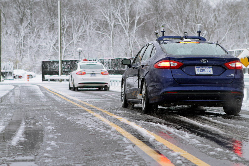 Ford Conducts First Ever Snow Tests Of Autonomous Vehicles