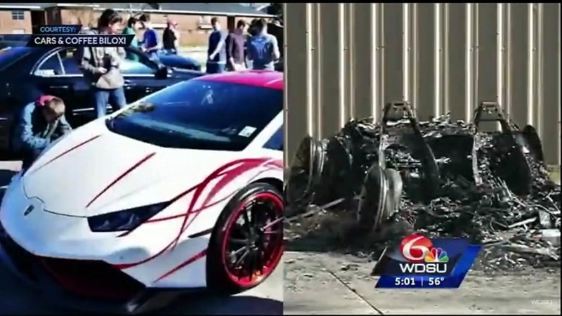Lamborghini Huracán Set On Fire In New Orleans