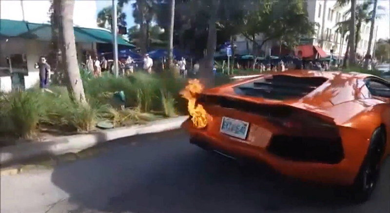 Valet Sets $500K Lamborghini On Fire In South Beach Florida: Video