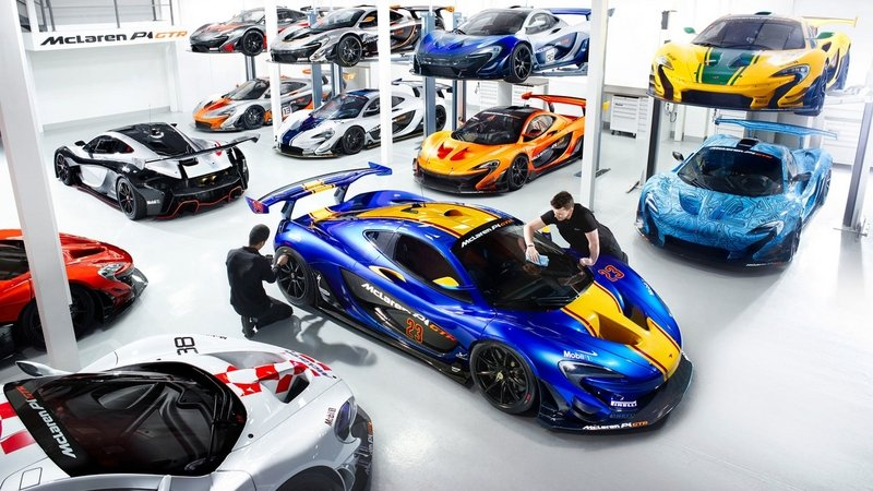 McLaren Drops Images Of The P1 GTR Workshop