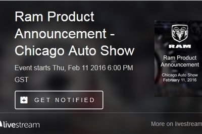 Watch Ram's Official Unveiling At 2016 Chicago Auto Show Live Here