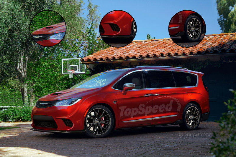 2017 Chrysler Pacifica Hellcat Exterior Exclusive Renderings Computer Renderings and Photoshop - image 668902