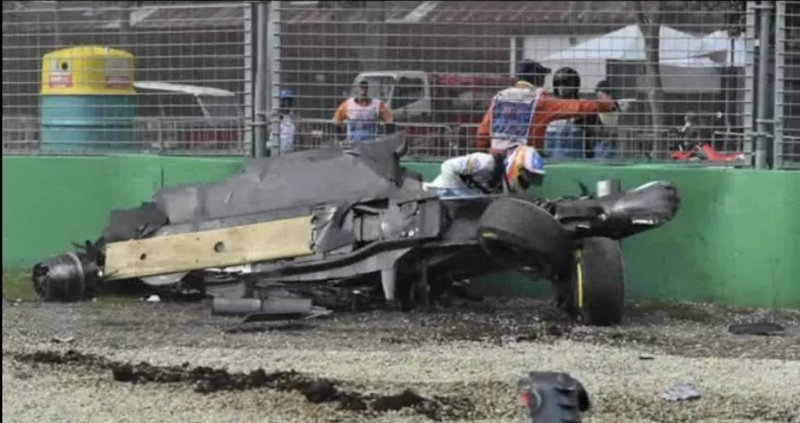Fernando Alonso Walks Off Unscathed After Horrific Crash At Australian GP