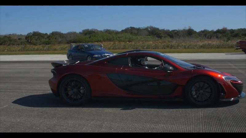McLaren P1 Passes The 200 MPH Barrier At The Johnny Bohmer Proving Grounds: Video