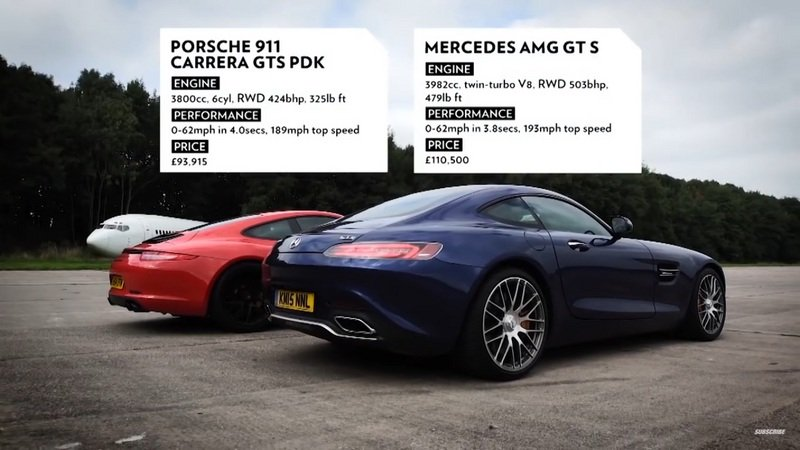 Top Gear Lines Up The Mercedes-AMG GT S Against The Porsche 911 Carrera GTS: Video