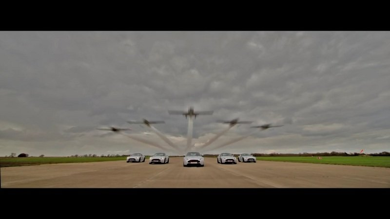 Aston Martin Vantage V8 S Blades Edition Owners Get Aerial Delivery: Video