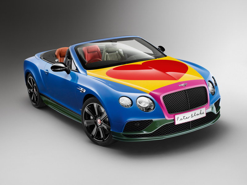 2016 Bentley Continental GT V8 S Convertible Art Car By Sir Peter Blake High Resolution Exterior Wallpaper quality - image 673022