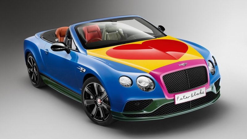 2016 Bentley Continental GT V8 S Convertible Art Car By Sir Peter Blake