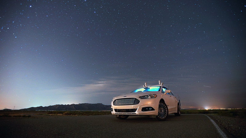 Ford Fusion Autonomous Research Vehicles Start Testing At Night