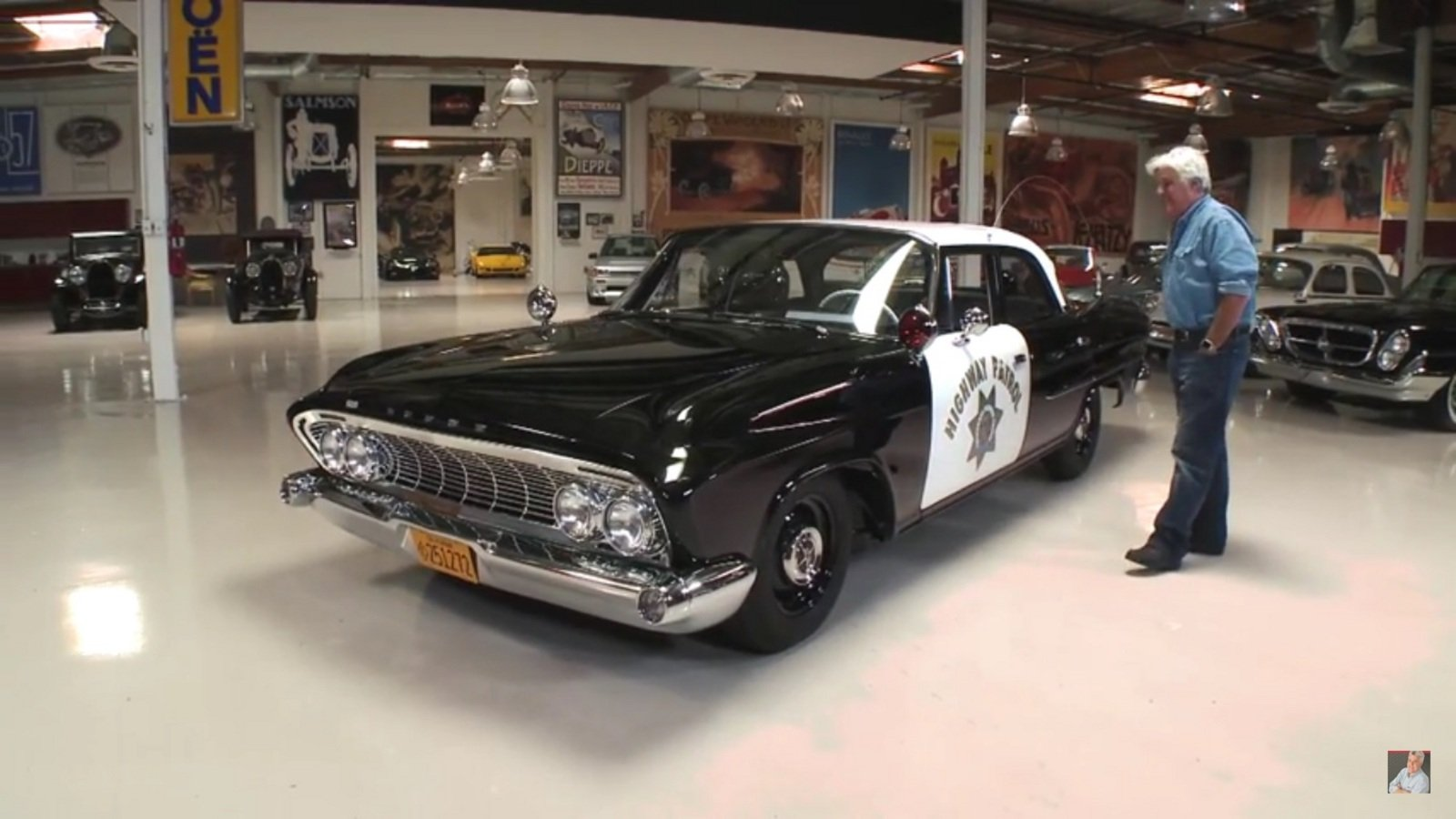 1962 chp dodge polara stops by jay leno 39 s garage video news top speed. Black Bedroom Furniture Sets. Home Design Ideas