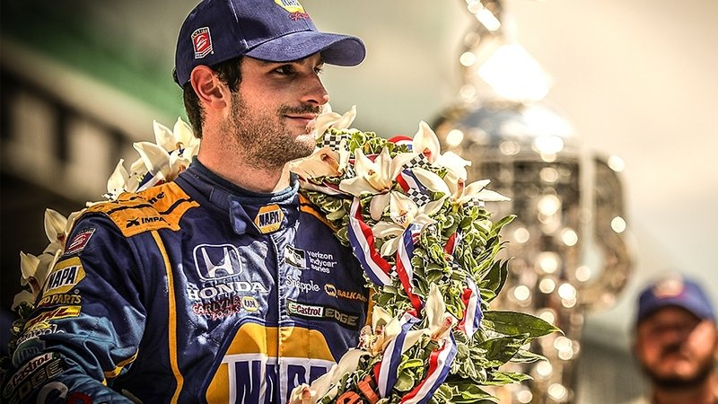 Alexander Rossi Takes Checkered Flag In 100th Indy 500