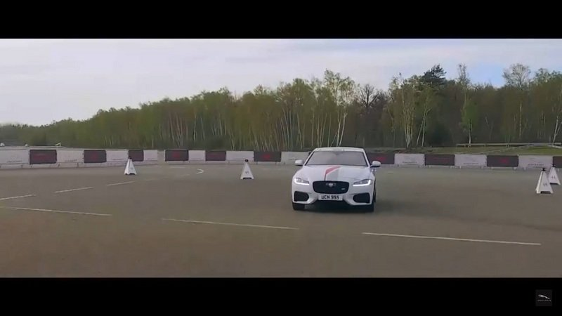F1 Driver Romaine Grosjean Tests Jaguar's Smart Cone Technology With The Jaguar XF: Video