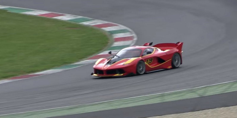 Ferrari FXX Ks Having A Party Around The Mugello Circuit: Video