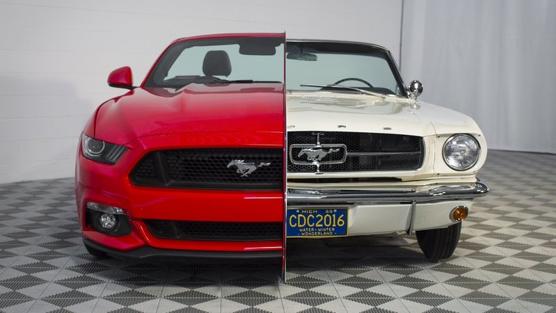 Ford Puts 1965 And 2015 Mustang Side-By-Side