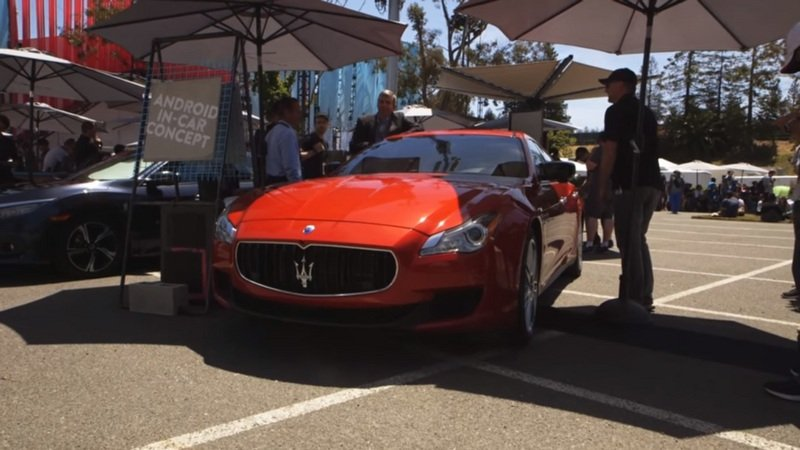 Google Showcases Android Prototype Operating System On The Maserati Ghibli: Video