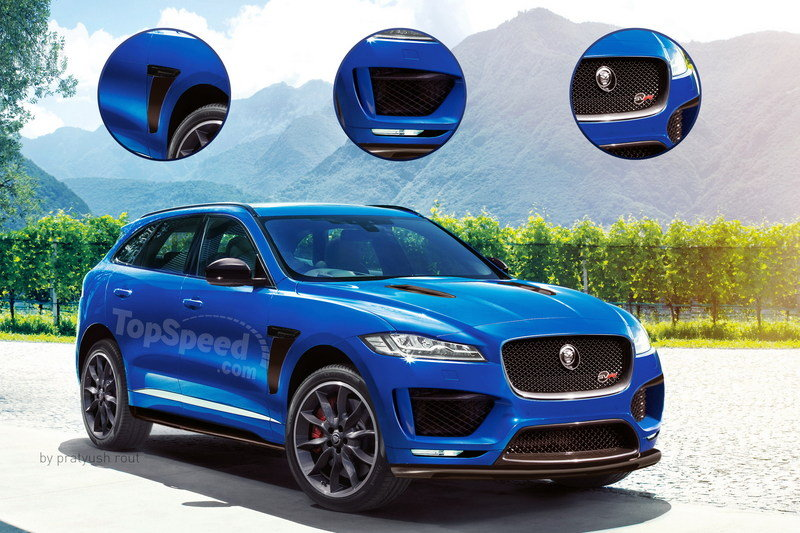2018 Jaguar F-Pace SVR Exterior Exclusive Renderings Computer Renderings and Photoshop - image 675472