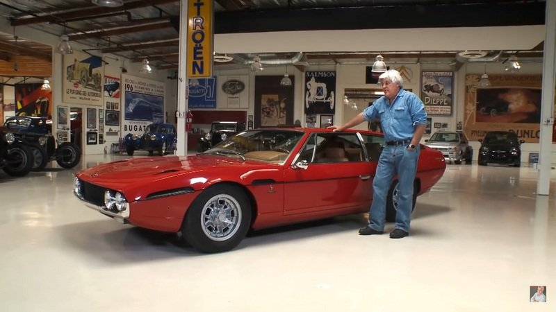 Jay Leno Proudly Shows Off His Lamborghini Espada: Video