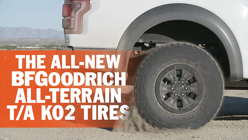 2017 Ford F-150 Raptor's BFGoodrich Tires in Detail: Video