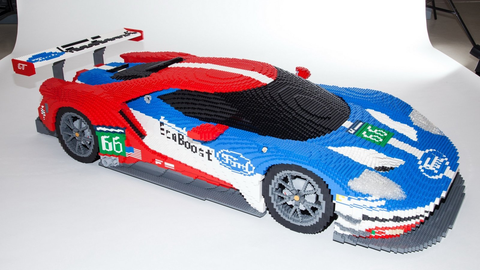 Lego Version Of Ford Gt Race Car To Be Displayed At Lemans Video Pictures Photos Wallpapers And Video