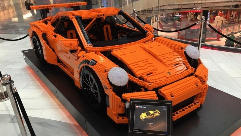 Life-Sized Lego Replica Of Porsche 911 GT3 RS Is A Thing Of Beauty