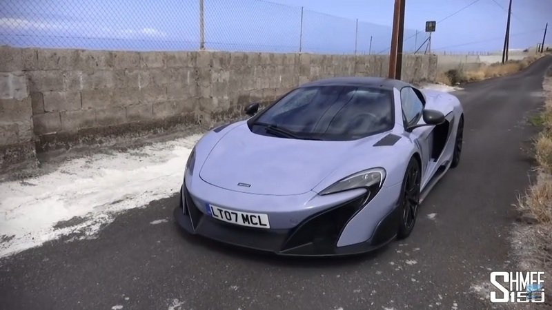 Shmee150 Gets His First Drive Of The McLaren 675LT Spider: Video