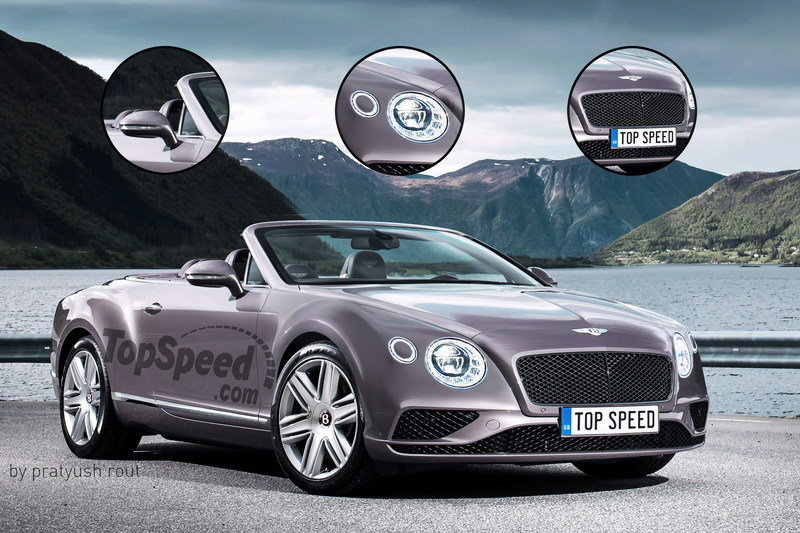 2018 Bentley Continental GTC Exterior Exclusive Renderings Computer Renderings and Photoshop Spyshots - image 683046