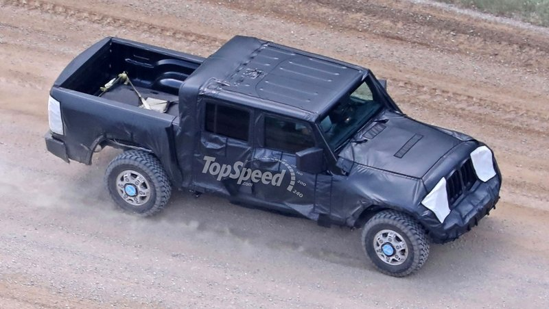 Jeep Wrangler Pickup Truck Caught Testing For The First Time