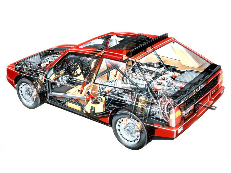 1985 Lancia Delta S4 Stradale High Resolution Drivetrain - image 682782