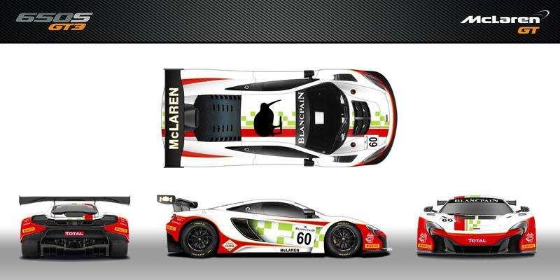 McLaren 650S GT3 to get Special Livery for 2016 24 Hours of Spa