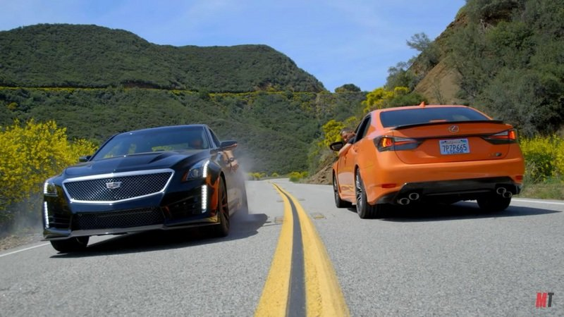 Motor Trend Pits The 2016 Cadillac CTS-V Against The 2016 Lexus GS F