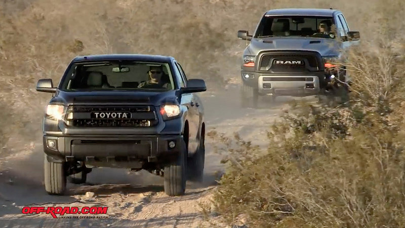 Off-Road Shootout – Ram Rebel VS Toyota Tundra TRD Pro: Video