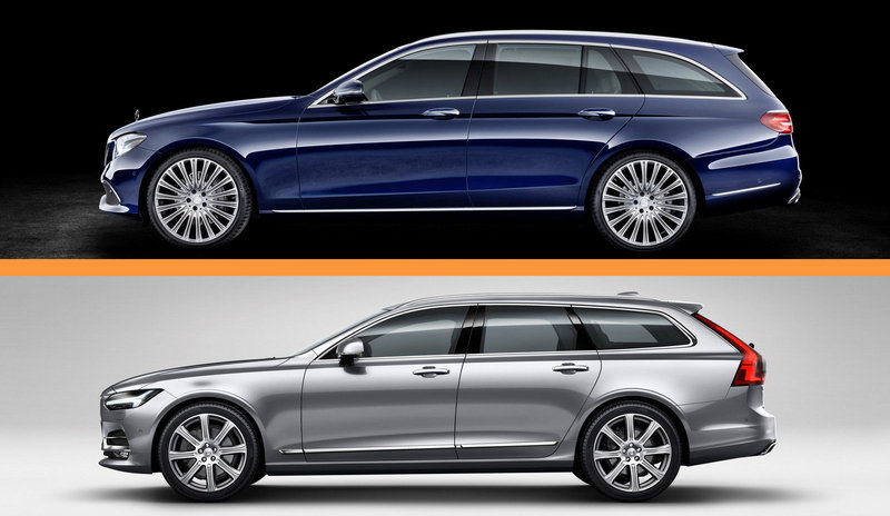Swank Wagon Tech Showdown – Mercedes E-Class vs. Volvo V90