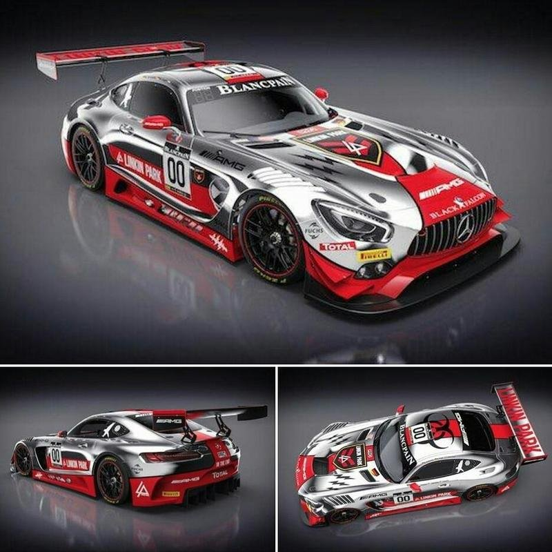This Mercedes-AMG GT3 Race Car Wears A Linkin Park Livery