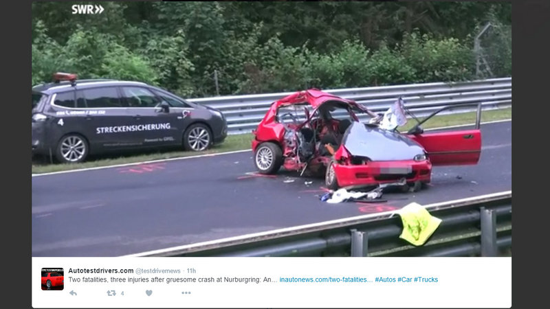 Two People Killed and Three Injured in Horrific Crash at Nurburgring