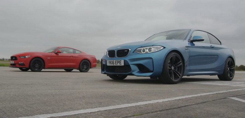 Watch EVO line up the BMW M2 against the Ford Mustang 5.0 GT: Video