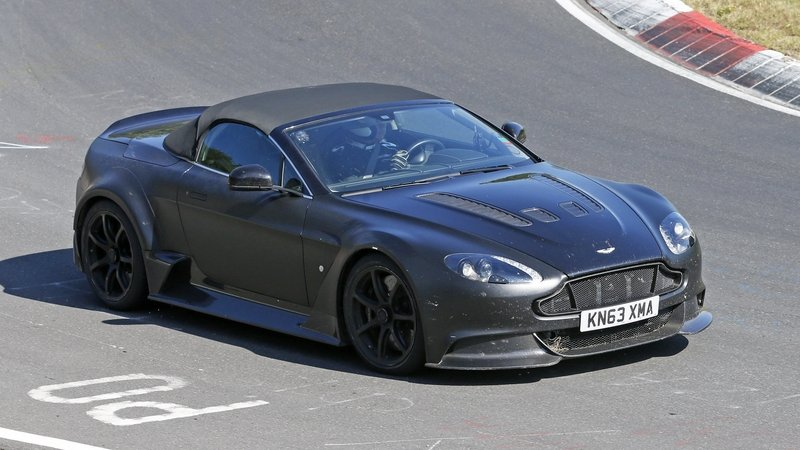Strange Looking Aston Martin Vantage GT12 Roadster Caught Testing