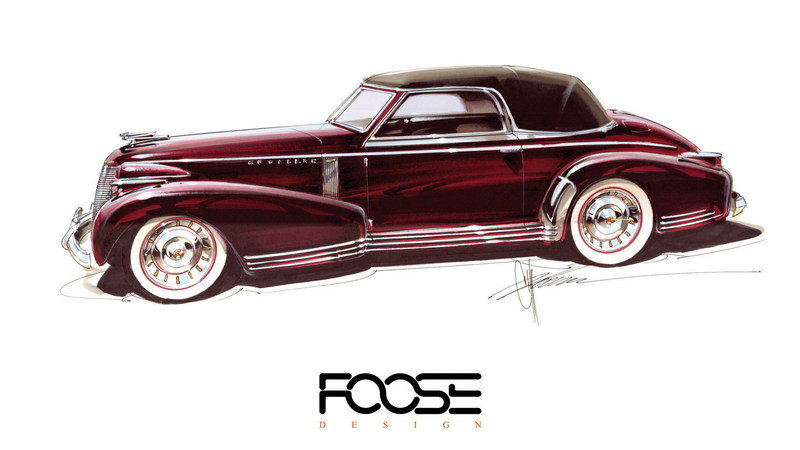 Chip Foose Is Building a Gorgeous, Unique 1939 Cadillac Based on 80-Year-Old Sketch