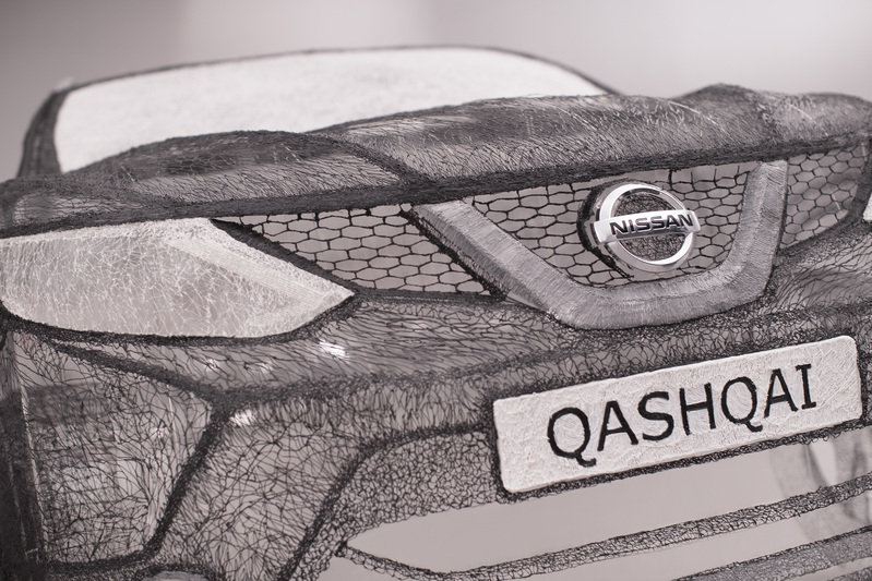 Nissan Built Worlds Largest 3D Pen Sculpture in the Form of a Full-Sized Qashqai