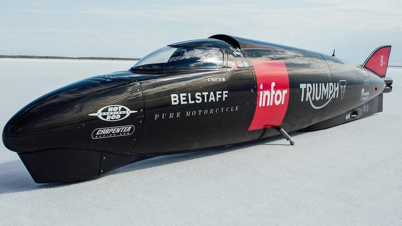 Triumph Breaks Own Record At Bonneville Salt Flats