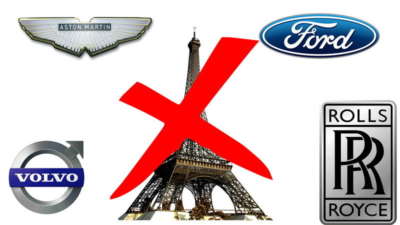 Aston Martin, Ford, and Rolls-Royce Skipping 2016 Paris Auto Show