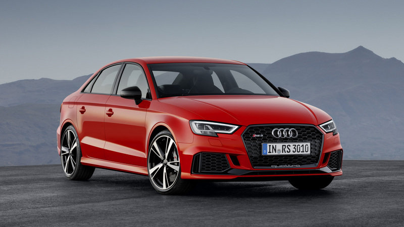 Audi RS3 Sedan Shakes Its 400 HP Engine In Paris