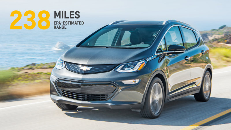 Chevy Bolt Puts Nissan Leaf to Shame; Comes with 238-Mile Range