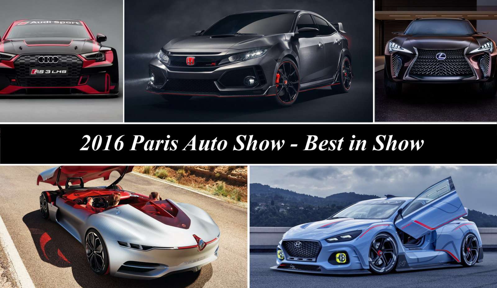 2016 paris motor show best in show news top speed. Black Bedroom Furniture Sets. Home Design Ideas