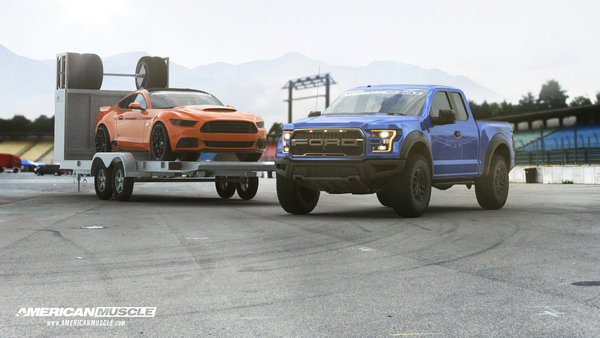 american muscle to give away track-ready mustang f-150 raptor and aluminum trailer - DOC692406