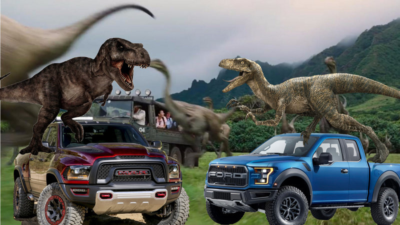 Duel of the Dinos: Ford F-150 Raptor vs Ram TRX Concept